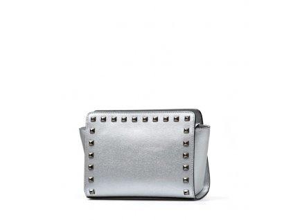 Kožená kabelka Tinna stříbrná