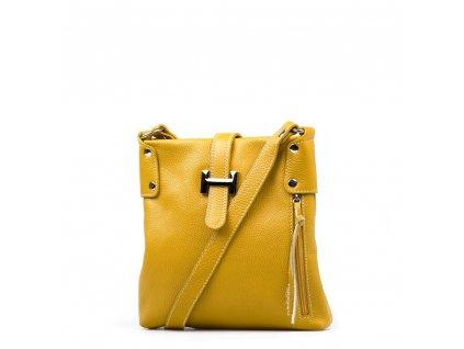 Kožená crossbody kabelka Raquel hořčicově žlutá