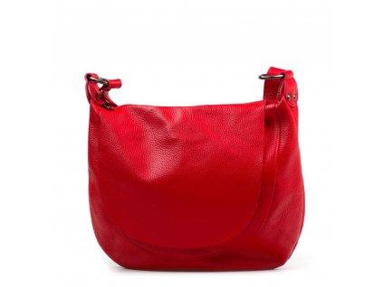 Kožená crossbody kabelka Alcina červená