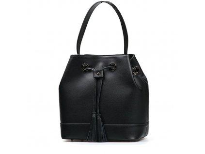 Kožená kabelka Antonia černá
