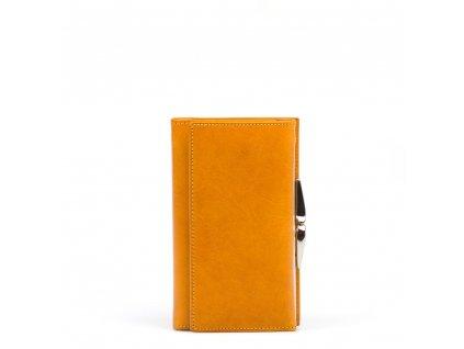 Dámská kožená peněženka Luca žlutá