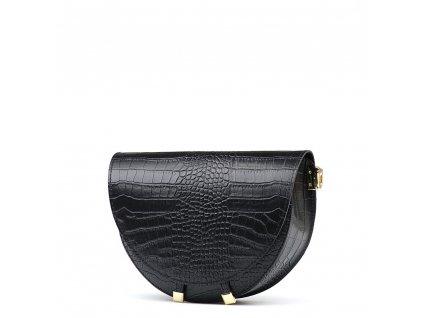 Kožená kabelka Colin černá