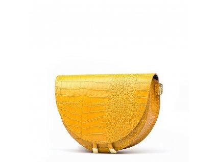 Kožená kabelka Colin žlutá