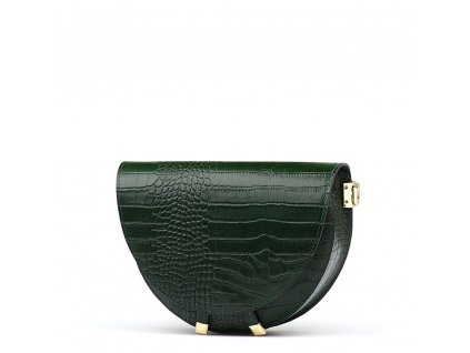 Kožená kabelka Colin zelená