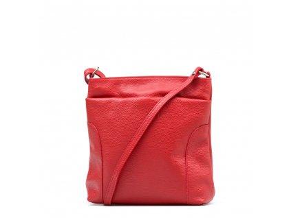 Kožená crossbody kabelka Zora červená