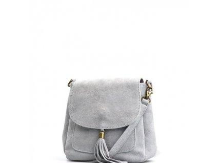 Kožená kabelka Lanira šedá