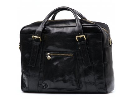 Kožená pracovní taška Elti černá