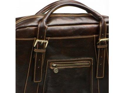 Kožená pracovní taška Elti hnědá