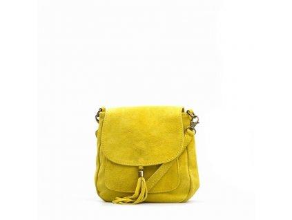 Kožená kabelka Lanira žlutá