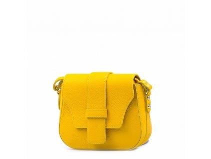 Kožená crossbody kabelka Arden žlutá