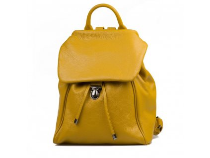 Kožený batůžek Zeno žlutý