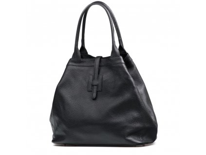 Kožená maxi kabelka Viola černá