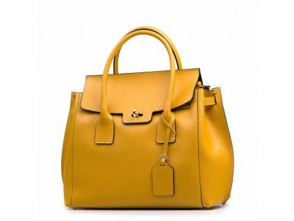 Kožená kabelka Prisca hořčicově žlutá