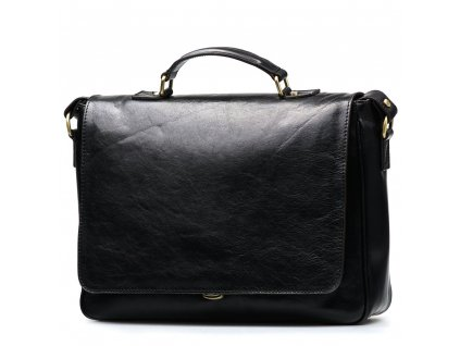 Kožená pracovní taška Simone černá