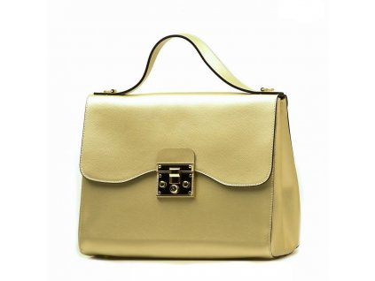 Kožená kabelka Zofia zlatá