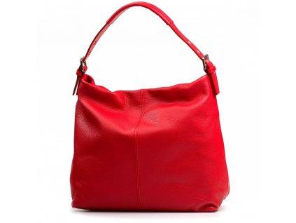 Kožená kabelka Felisa červená