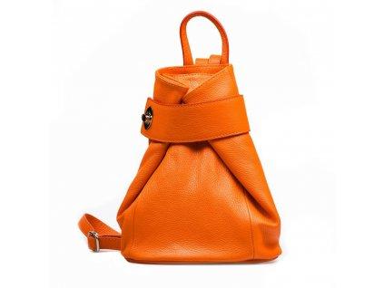Kožený batůžek Joss oranžový