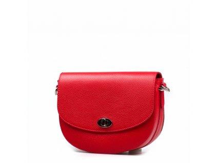 Kožená kabelka Sara červená