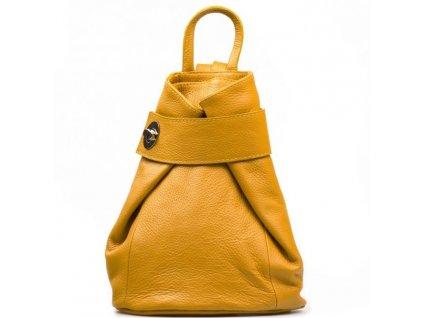 Kožený batůžek Joss žlutý