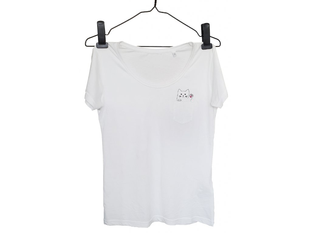 tričko s mačkou