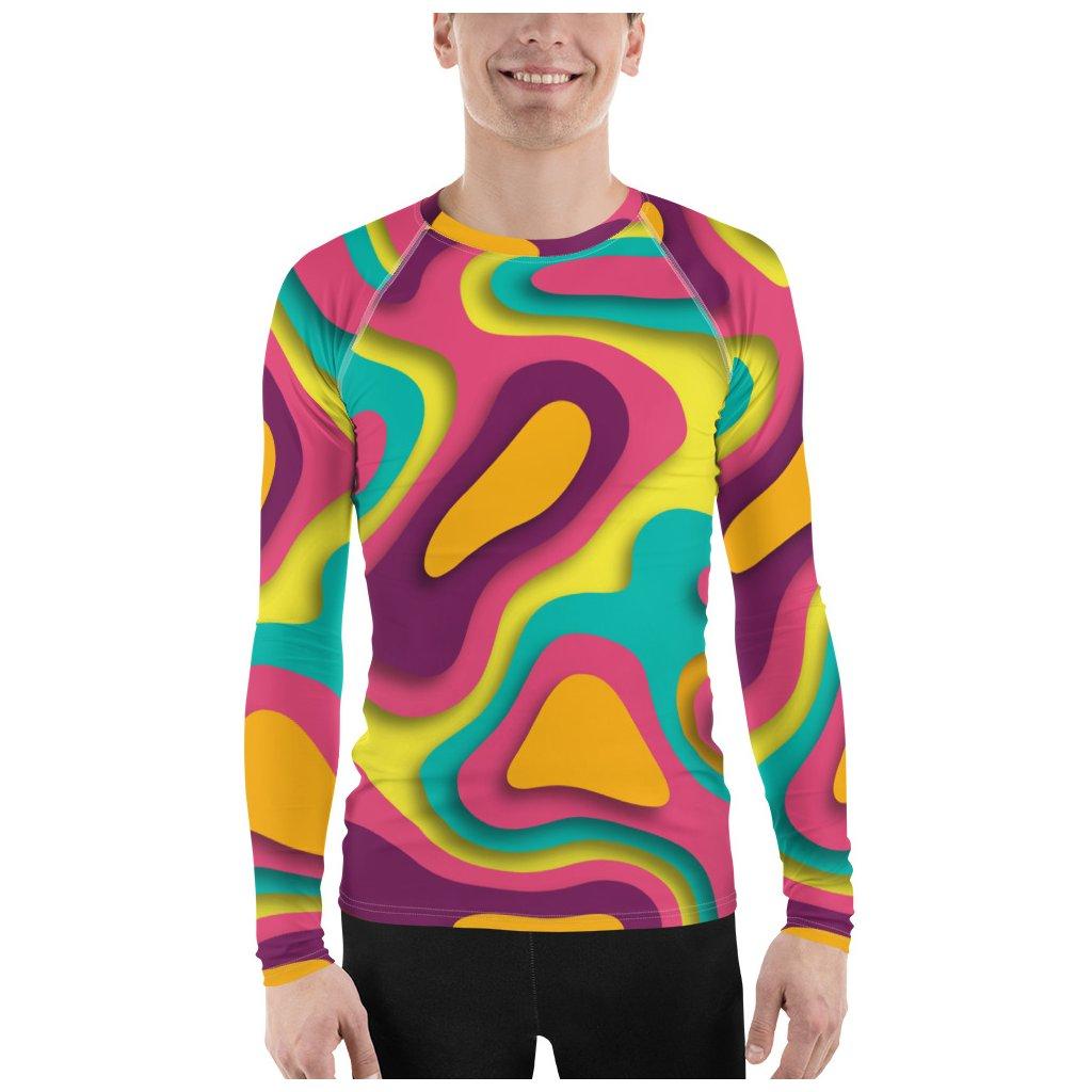 BLAVAS mužské funkčné tričko Abstrakt