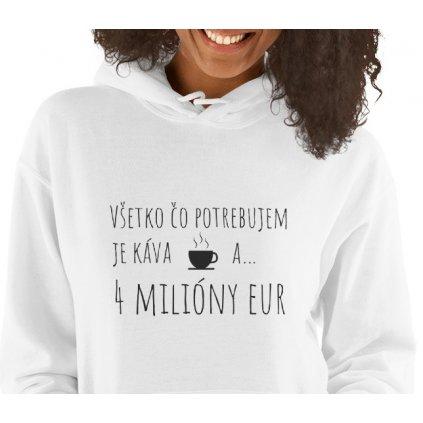 BLAVAS mikina s kapucnou 4 miliony