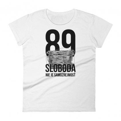 """Ženské tričko """"Sloboda 89"""" BLAVAS, biele"""