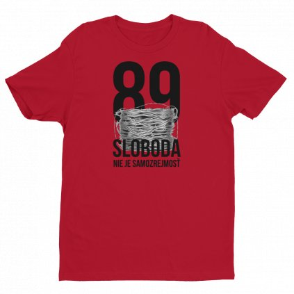 89sloboda Outside label BLAVAS logo mockup Front Flat Red