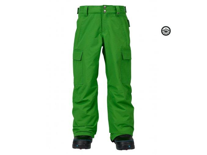 BURTON BOYS EXILE CARGO PANT Slime zelené