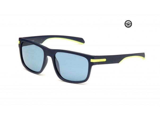 Slun.brýle POLAROID 2066/S mat blue/pol. Pltnm