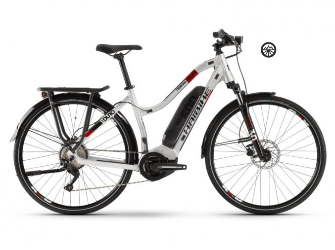 HaiBike SDURO Trekking 2.0 dámské 500Wh stříbrná/černá/červená 2020