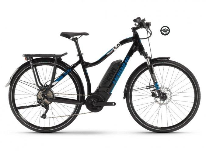 HaiBike SDURO Trekking 3.0 dámské 500Wh černá/bílá/modrá 2020 L
