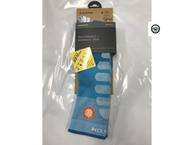 Ponožky BURTON W PRFRMNC+ MW SK TAHOE BLOCK M\L 38-42