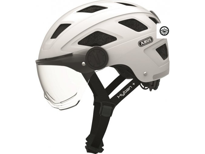 Hyban+ cream white (clear visor)