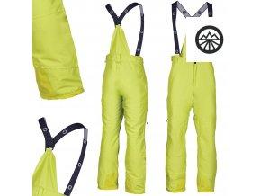 Pánské kalhoty BLIZZARD Ischg neon yellow