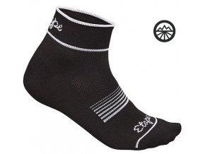 damske cyklisticke ponozky etape kiss cierno biele 83292