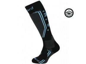 Ponožky BLIZZARD Viva Warm ski, black/gr/bl 39-42