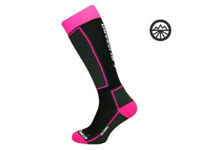 Ponožky BLIZZARD SKI SOCK JUNIOR 27-29 BLACK/PINK