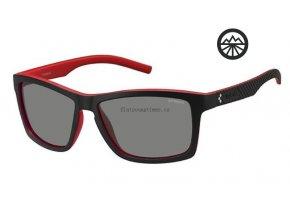 Slun.brýle POLAROID 7009/S blck red/pol. Grey