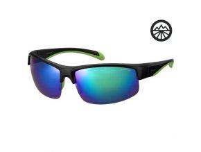 Slun.brýle POLAROID 7019/S blck grn/pol. Blue