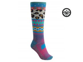 Ponožky BURTON W PRFRMNC MW SK WILDSTYLE 2020