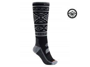 Ponožky BURTON W PRFRMNC MW SK TRUE BLACK 2020