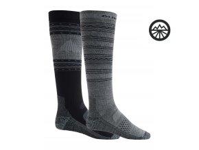 Ponožky BURTON M PRFRMNC LW SK 2PK TRUE BLACK 2020