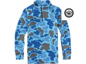 youth 1 4zip kids fleece bluesteel duck hunter camo