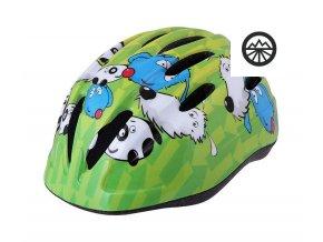 401835 detska cyklisticka helma etape pony zelena 79901