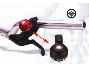 Zvonek XLC mini na brzdové páky černý