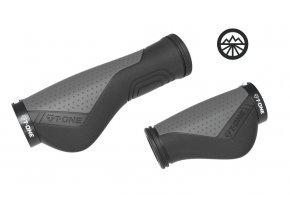 Gripy T-One Ripple Ergo cerná/šedá 130+90mm