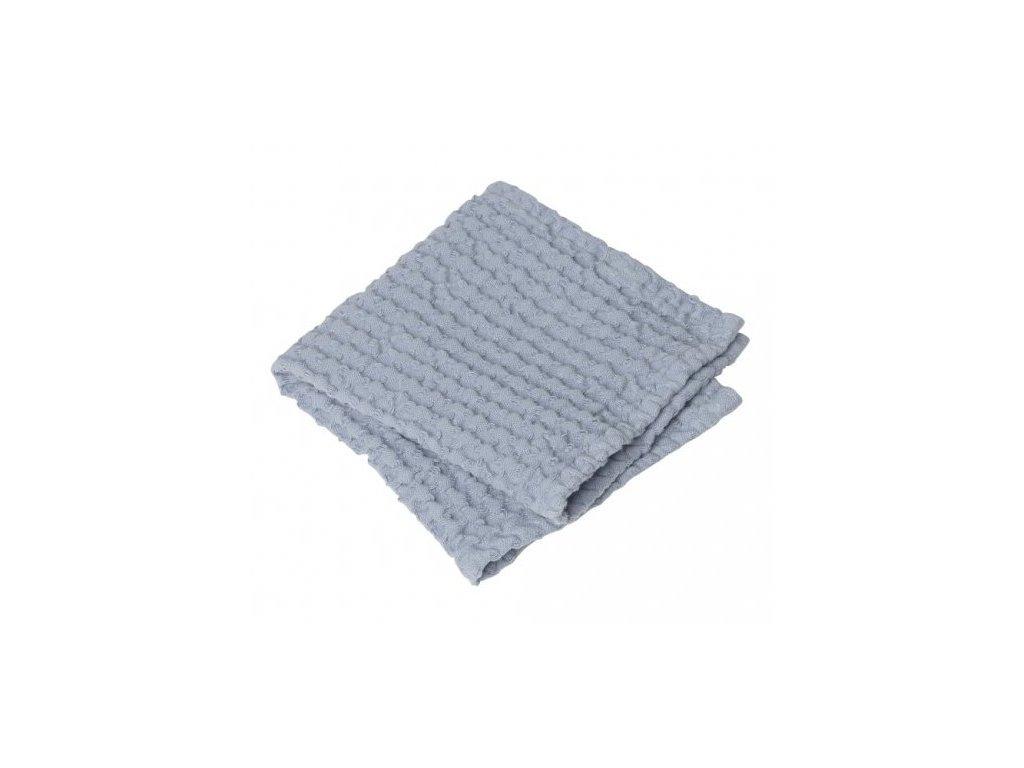 1634 1 caro sada 2 malych rucniku na ruce 30 x 30 cm pastelove modra