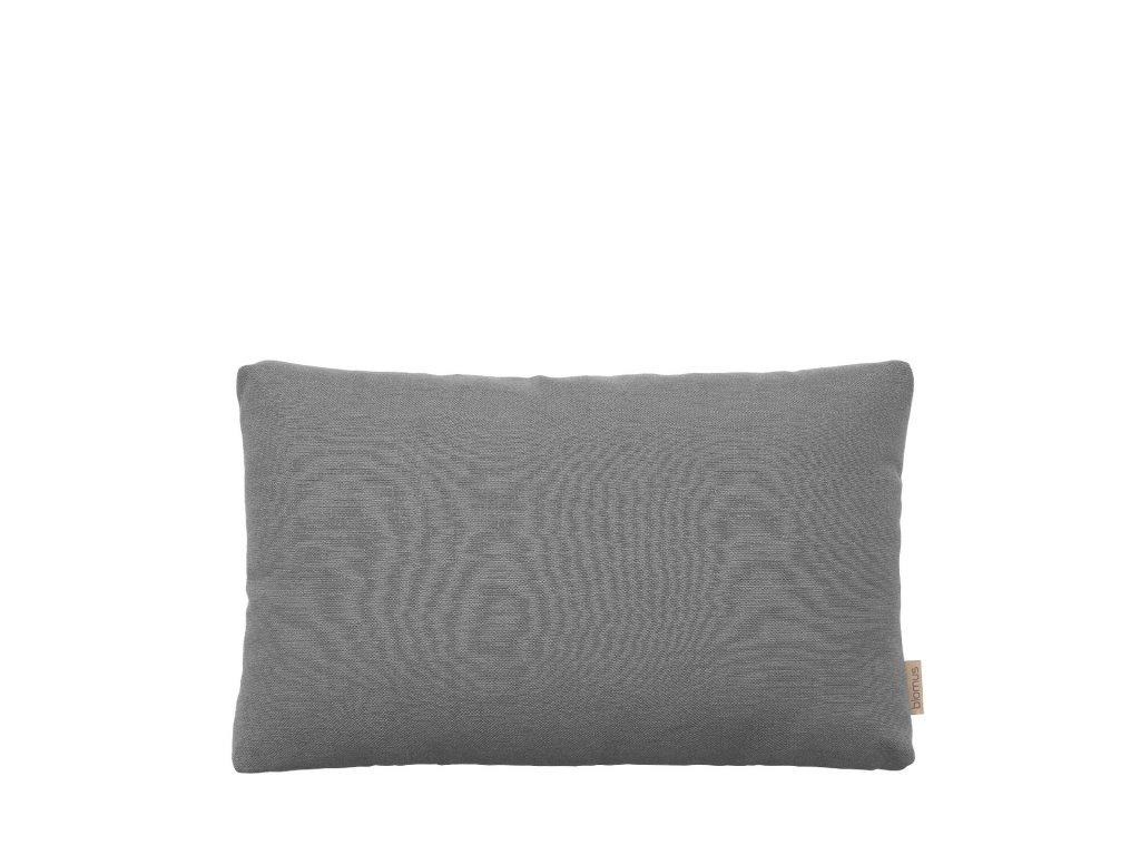 CASATA Povlak na polštář, 60 x 40 cm ocelově šedá