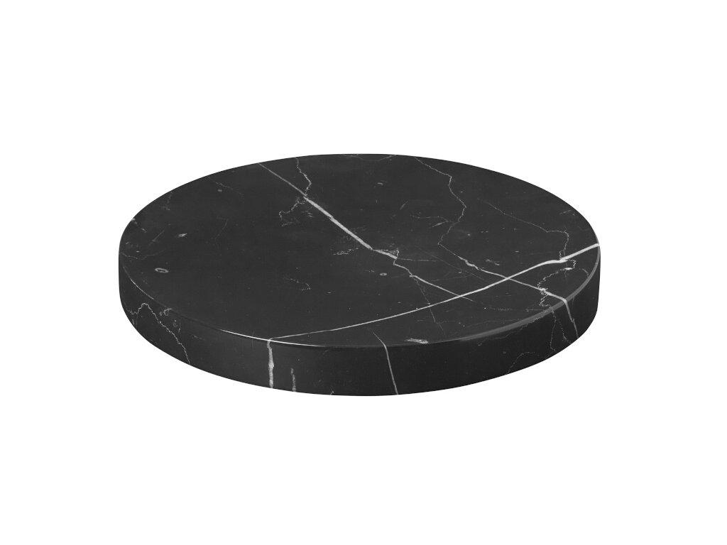 2792 1 pesa mramorova podlozka 19 cm cerna